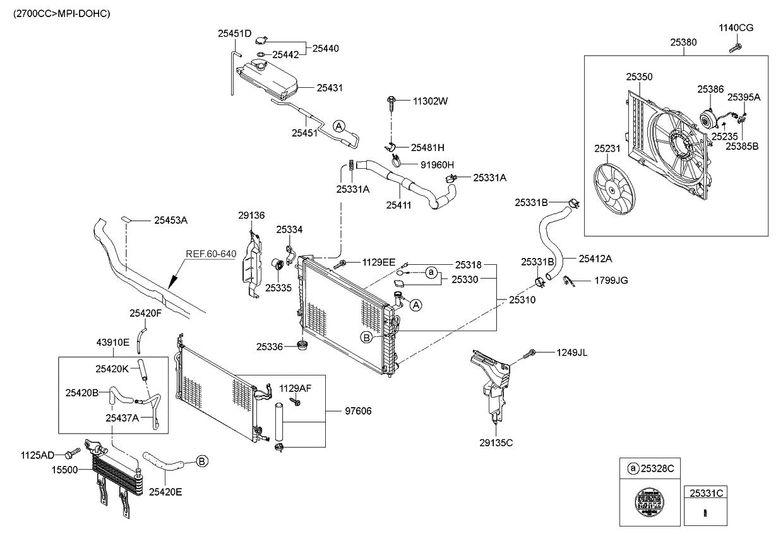 253102e801 genuine kia radiator assembly rh kiapartsnow com