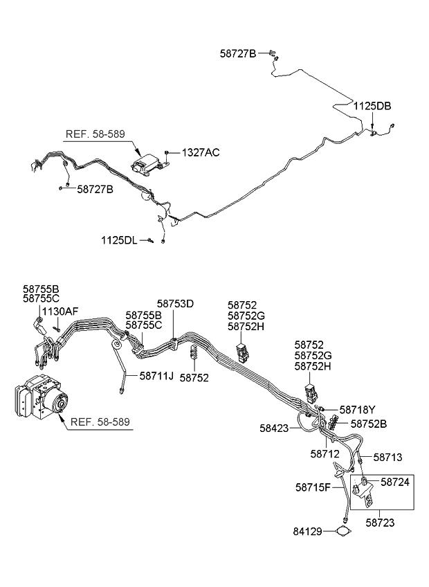 2008 Kia Sportage Brake Fluid Line