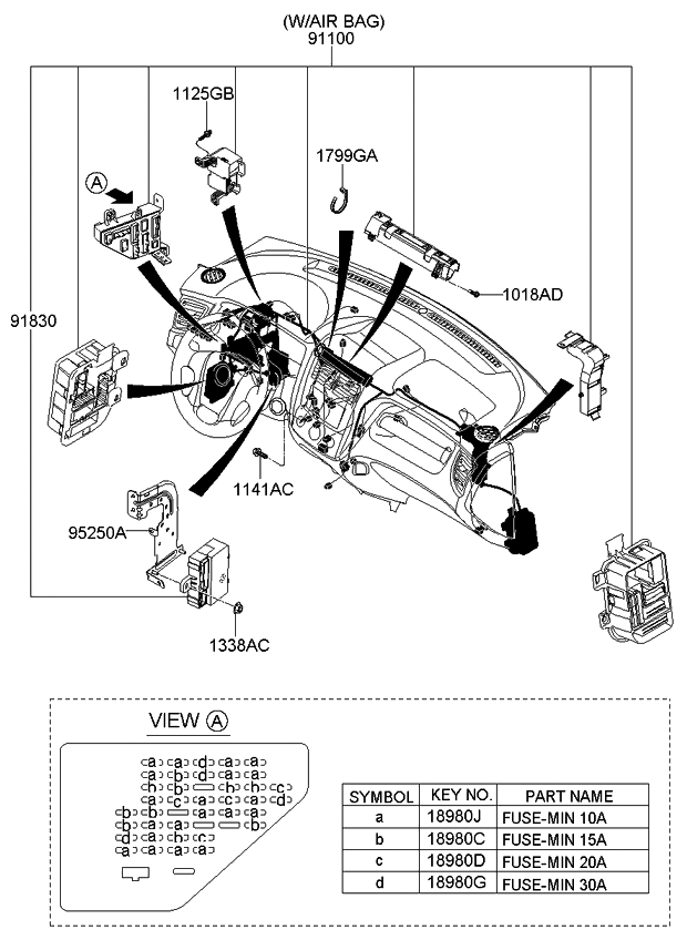 911051F062 - Genuine Kia WIRING ASSEMBLY-MAIN