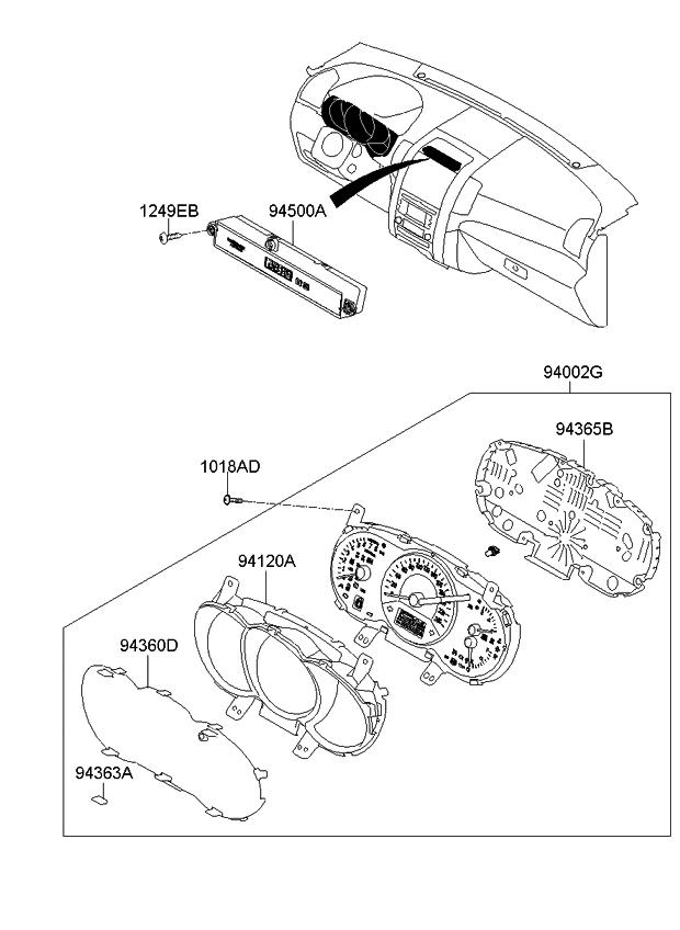 2014 Kia Sorento Instrument Cluster - Kia Parts Now Kia Instrument Cluster Wiring Diagram on