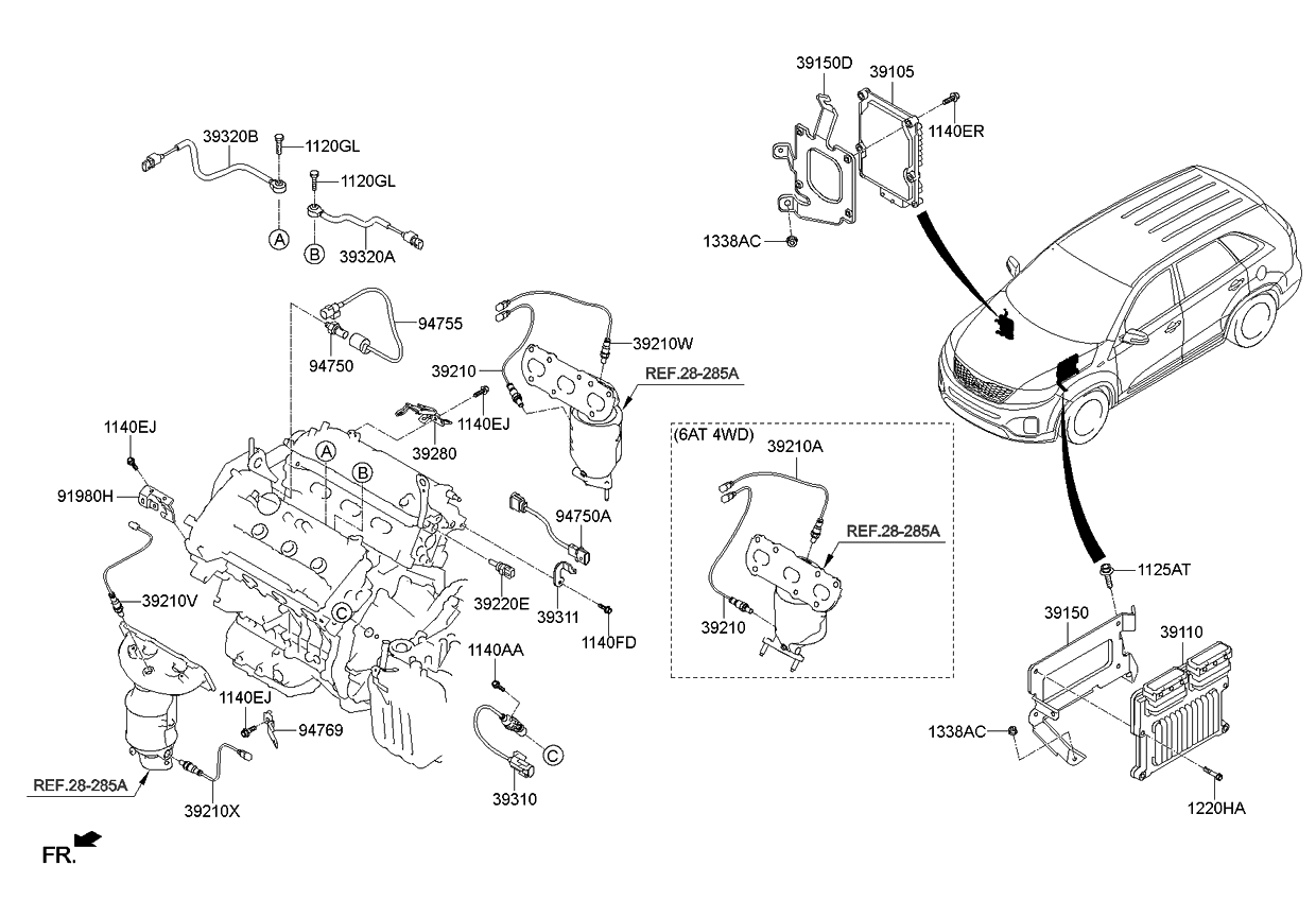 Oxygen Sensor Extension Engine Diagram And Wiring Diagram