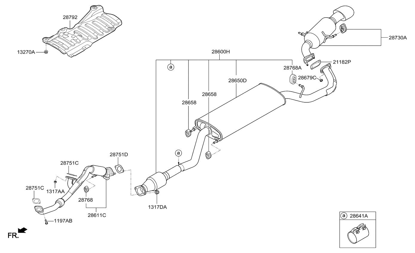 2014 Kia Sorento Muffler & Exhaust Pipe - Thumbnail 1