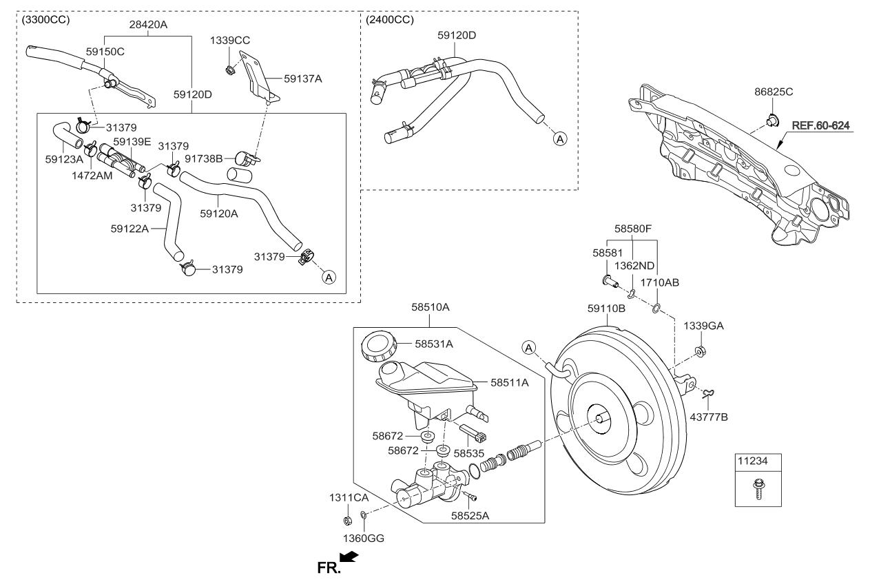 2014 Kia Sorento brake-master-cylinder