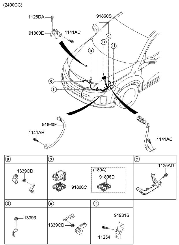 2013 kia sorento miscellaneous wiring kia parts now  kia sorento electrical wiring diagram #11