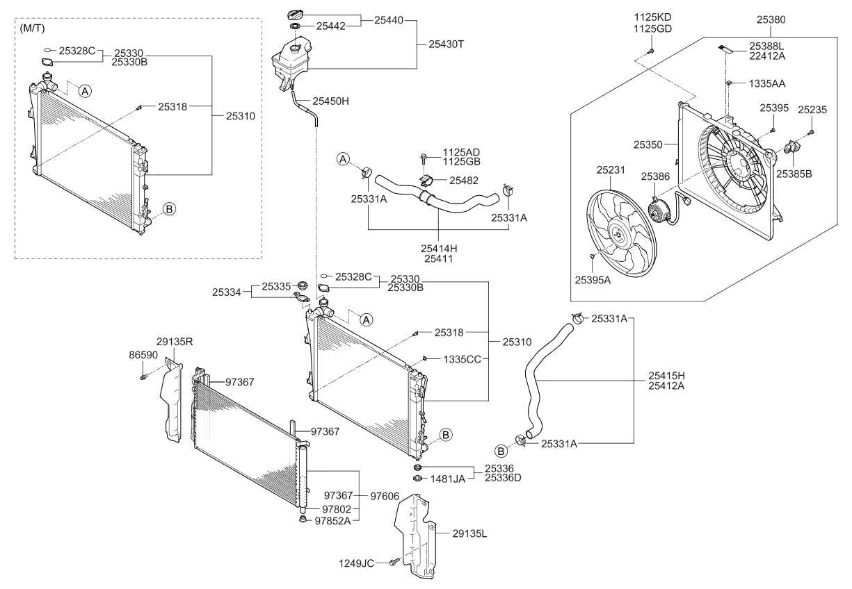 253103r500 genuine kia radiator assembly. Black Bedroom Furniture Sets. Home Design Ideas