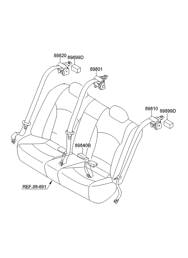2013 kia optima korean made rear seat belt kia parts now. Black Bedroom Furniture Sets. Home Design Ideas