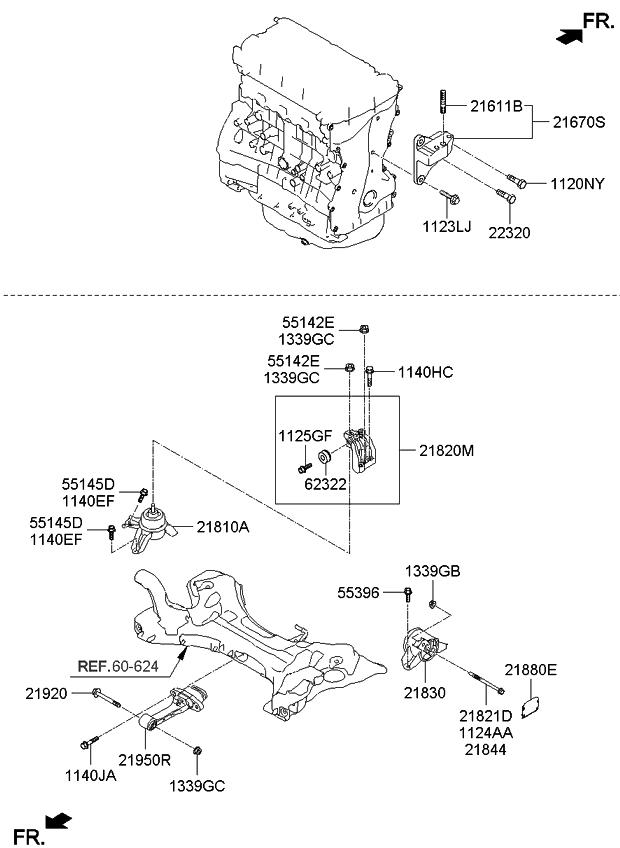 218303Q750 - Genuine Kia BRACKET ASSEMBLY-TRANSAXLE