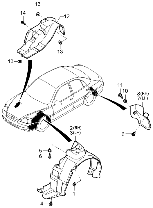 2000 Kia Rio floor-attachments