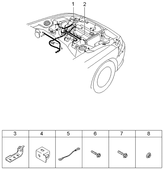 2002 kia rio engine transmission wiring harnesses rh kiapartsnow com 2001 Kia Rio 2003 Kia Rio