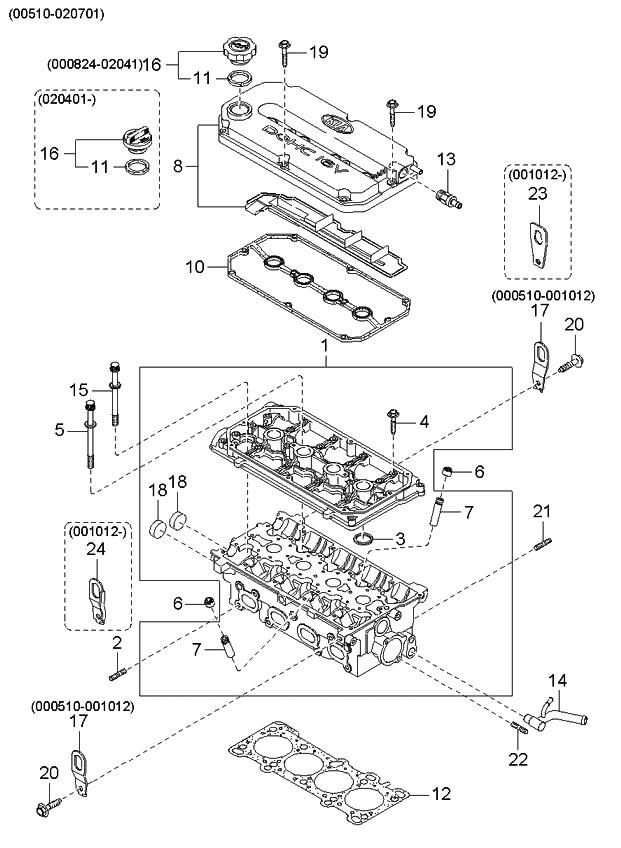 2000 Kia Rio Engine Diagram