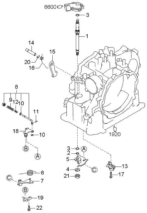 2004 Kia Rio Manual Linkage System