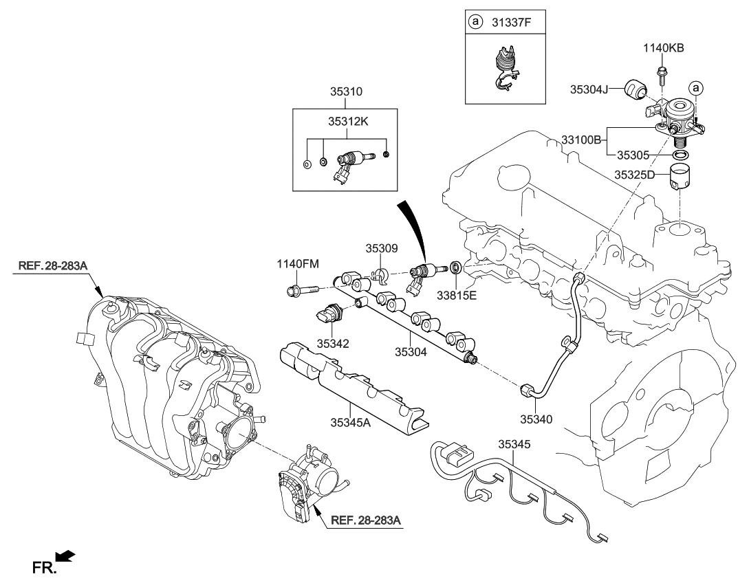 2014 kia rio throttle body  u0026 injector