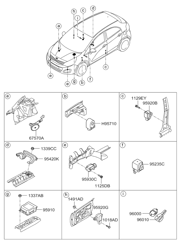 2009 kia rio engine diagram 959203x000 - genuine kia sensor assembly-side impact 2012 kia rio engine diagram