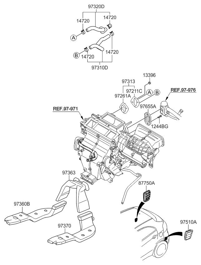 2013 Kia Rio Heater System-duct  U0026 Hose