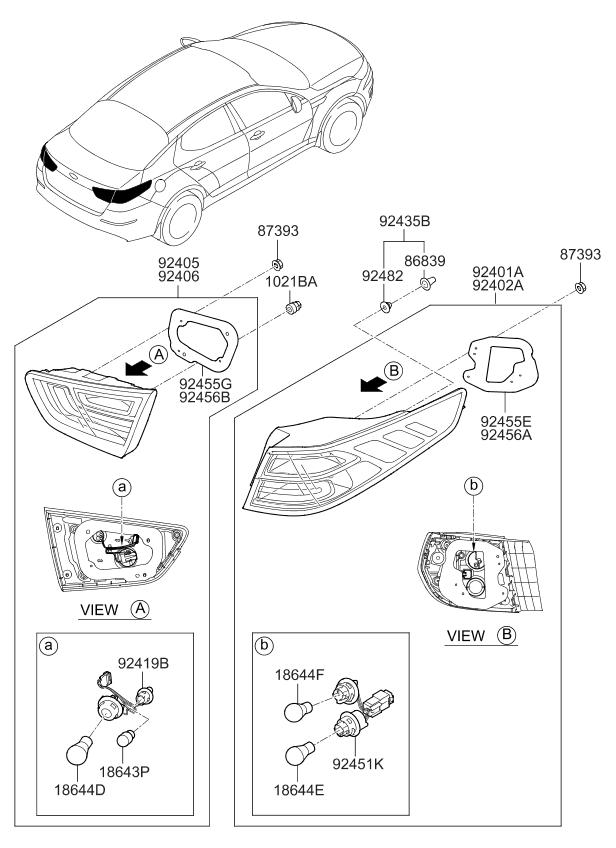 924524c500 genuine kia bulb holder wiring a. Black Bedroom Furniture Sets. Home Design Ideas