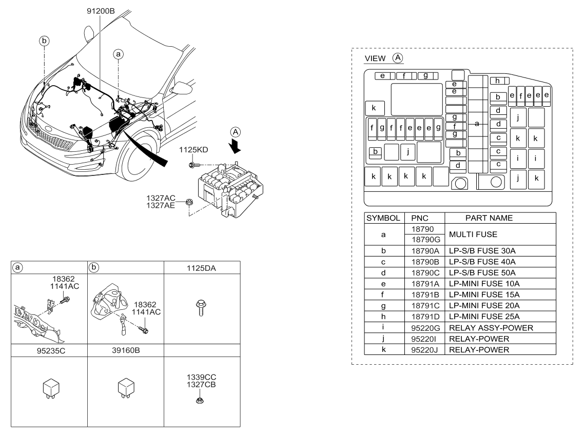 [SCHEMATICS_48EU]  912504C130 - Genuine Kia WIRING ASSEMBLY-FRONT   2015 Kia Optima Wiring Diagram      Genuine Kia Parts