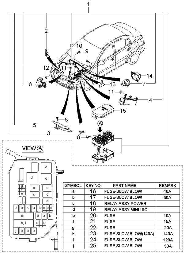 2005 Kium Rio Electrical Wiring Schematic