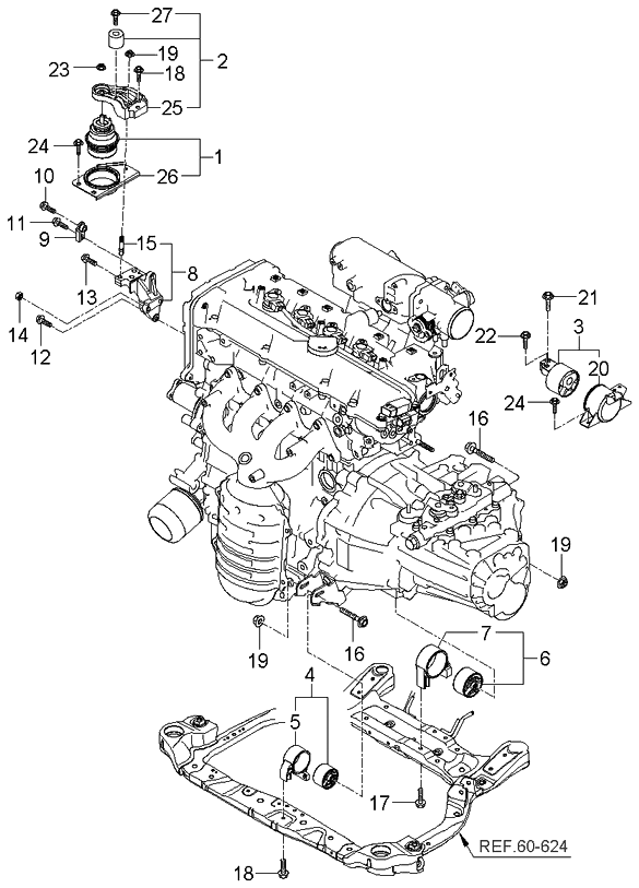 218101g000 genuine kia bracket engine mounting rh kiapartsnow com 2013 kia rio engine diagram 2007 kia rio engine diagram