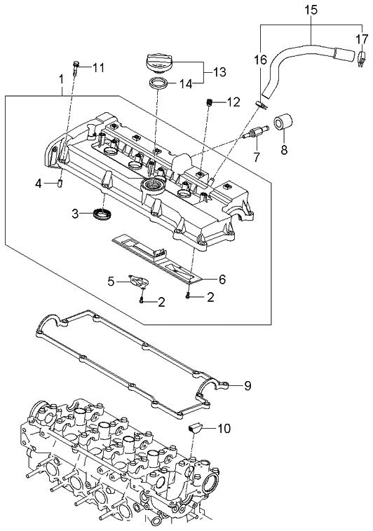 2005 Kium Rio Engine Diagram