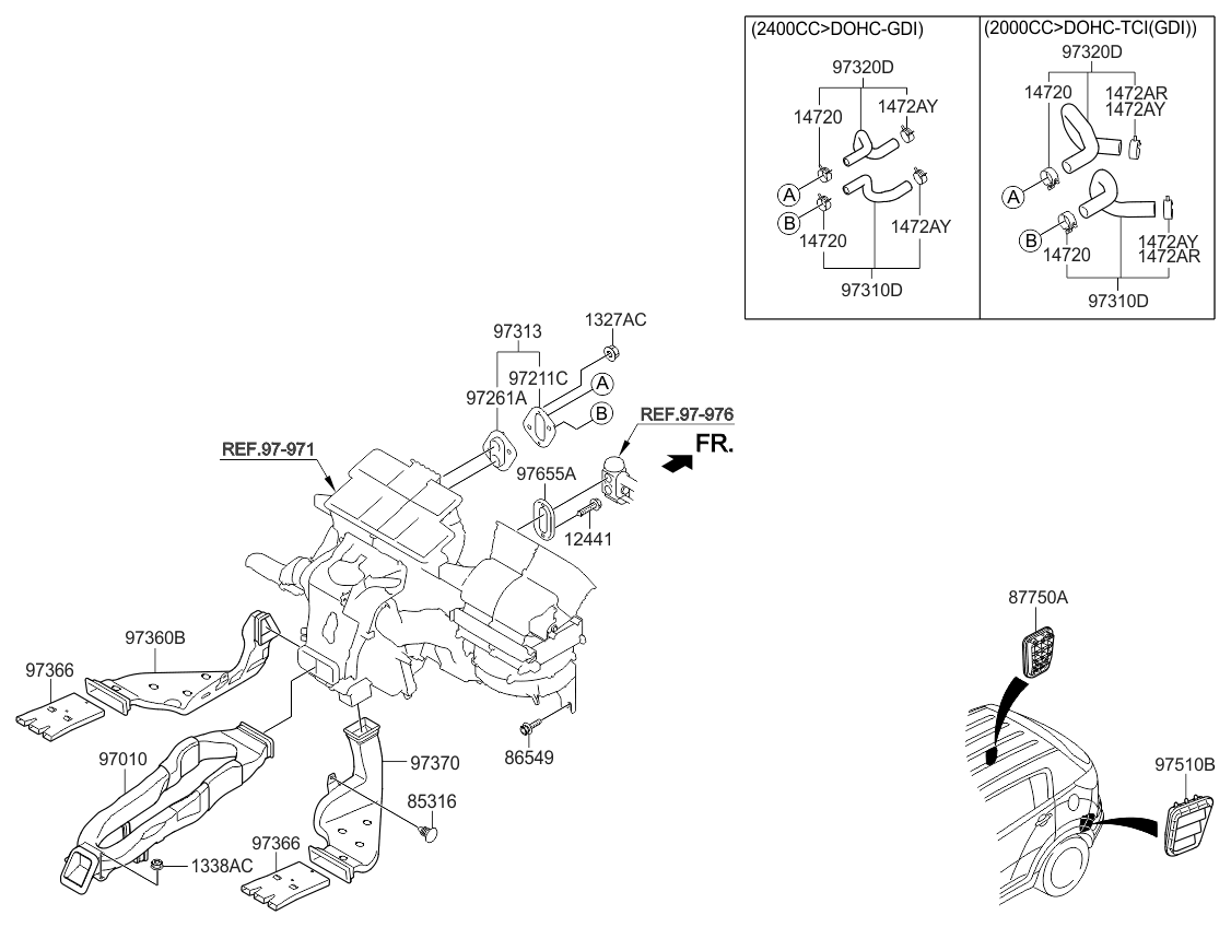 2014 Kia Sportage Heater System Duct Hose Parts Now 2015 Wiring Diagram