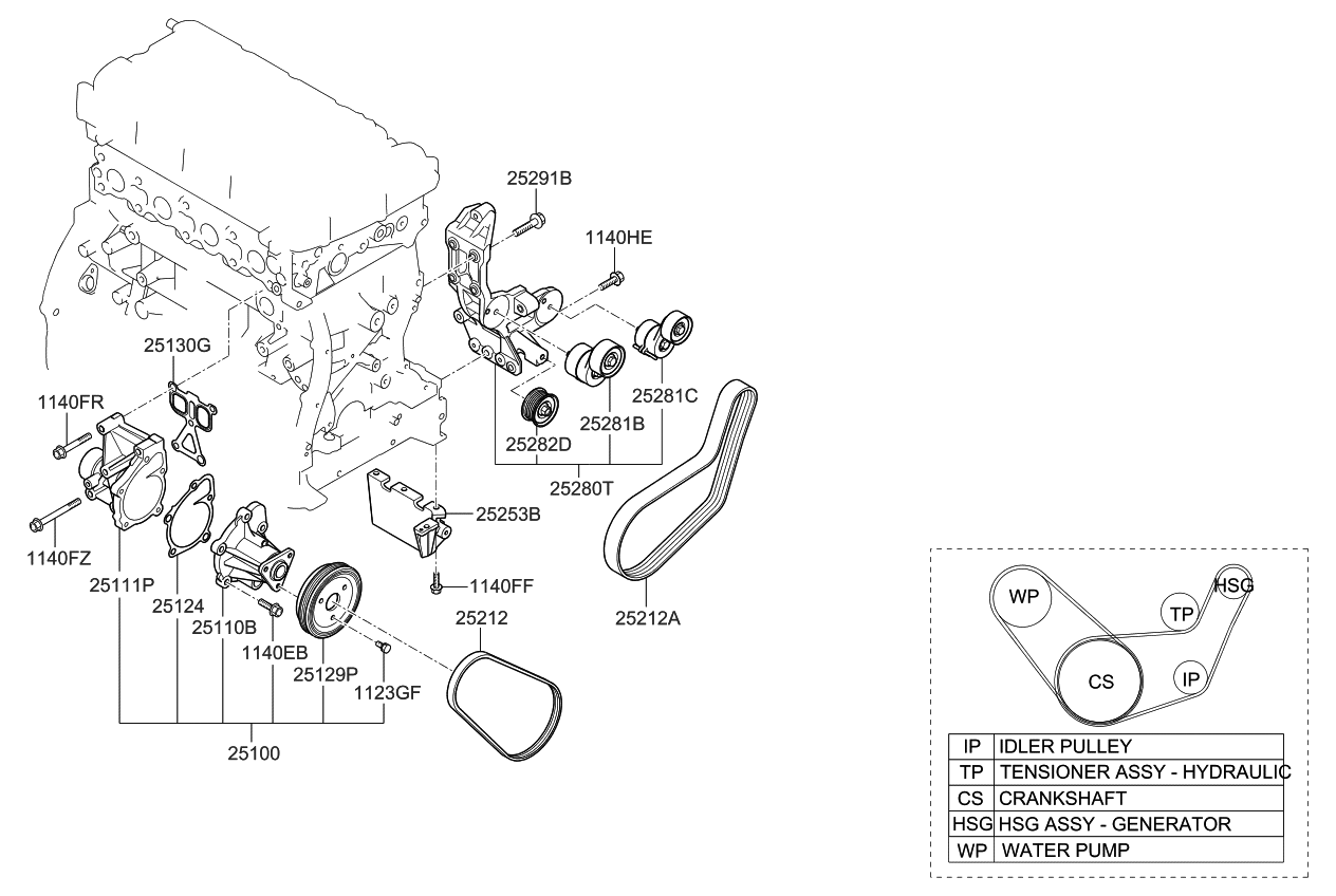 369103d010 genuine kia ewp assembly rh kiapartsnow com 2003 kia optima engine diagram 2001 kia optima engine diagram