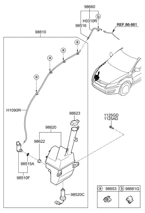2013 kia optima hybrid windshield washer