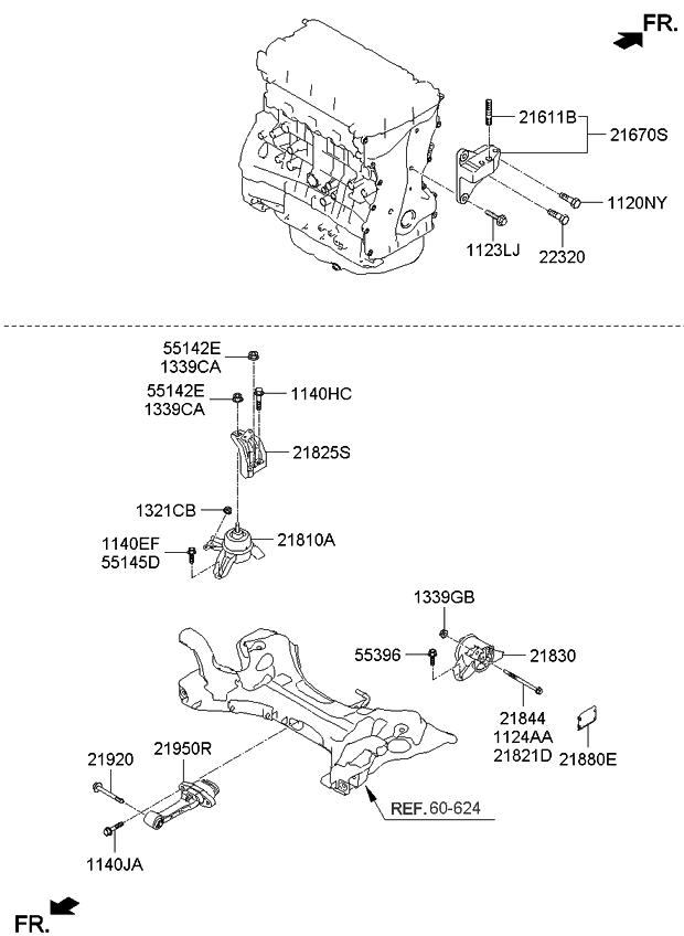 2013 Kia Optima Hybrid Engine  U0026 Transaxle Mounting