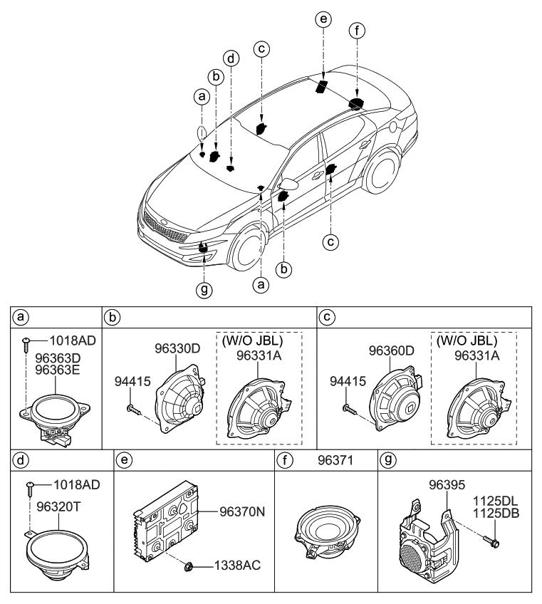 2013 Kia Optima Hybrid Speaker