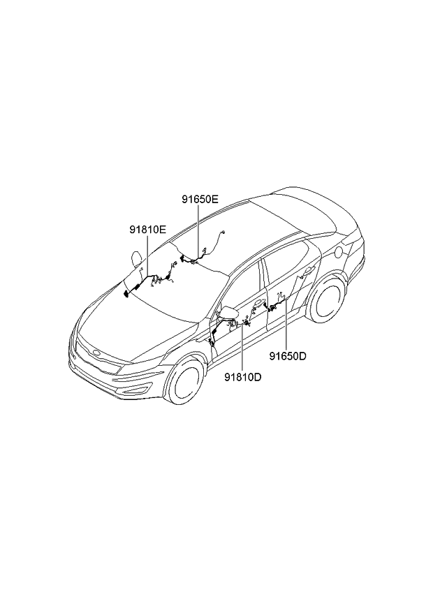 kia optima wiring diagram with Kia Wiring Assy Rr 916604c010 on Location Of Purge Valve Solenoid in addition Honda Ridgeline Fuse Panel as well Chevy Torque Converter Lock Up Wiring Diagram furthermore Chevy Silverado O2 Sensor Wiring Diagram additionally Oil Pump Location Of 2002 Chrysler Town Country.