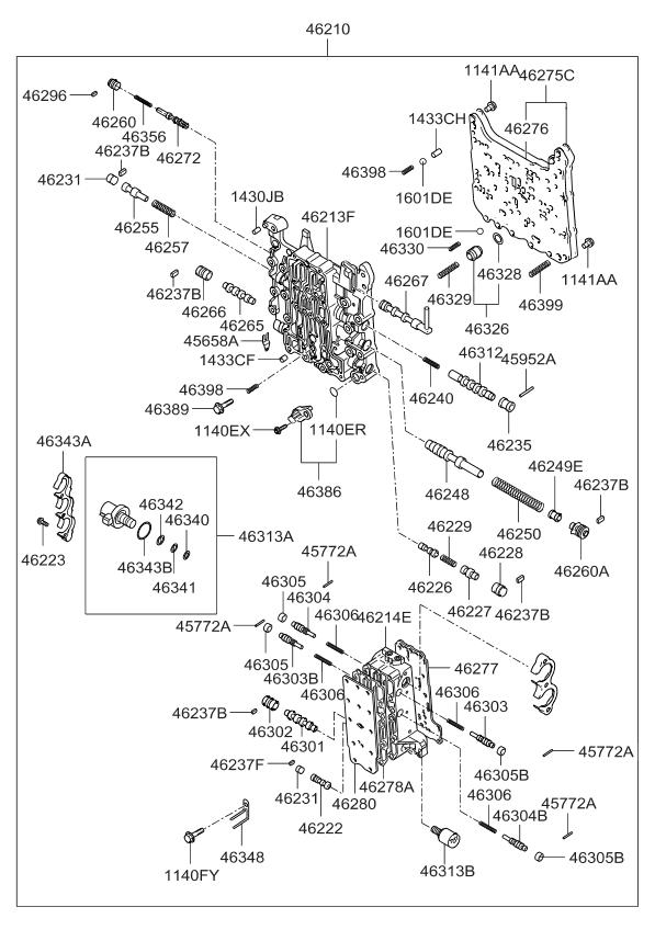 2007 kia amanti transmission-valve-body