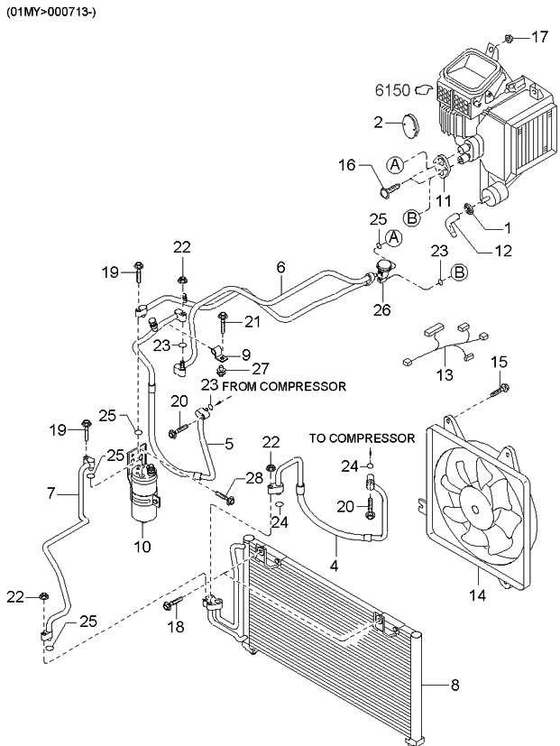 2001 Kia Sephia Air Condition - Kia Parts Now