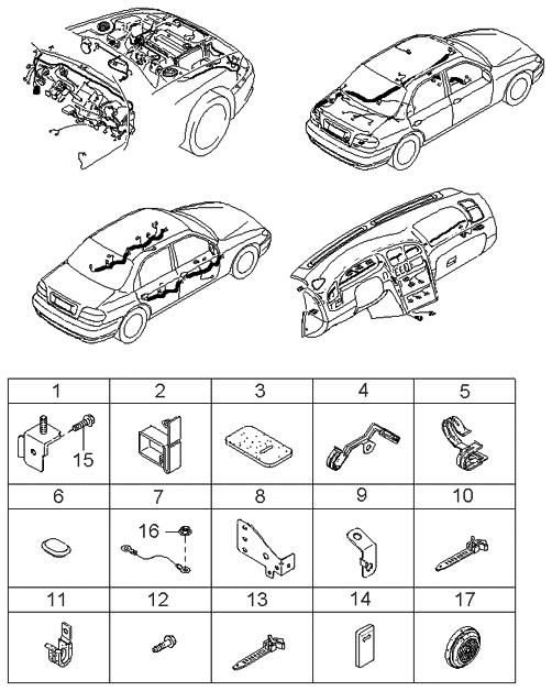 2000 Kia Sephia Wiring Harnesses Clamps - Kia Parts Now