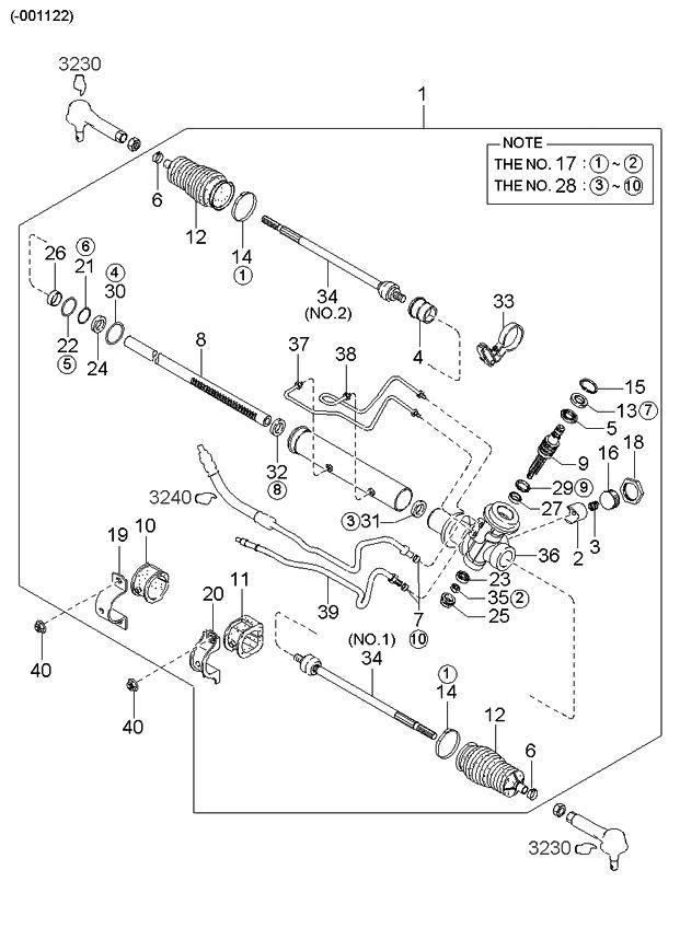 Fine 0K2C132110A Genuine Kia Gear Link Power Steering Wiring Database Ittabxeroyuccorg