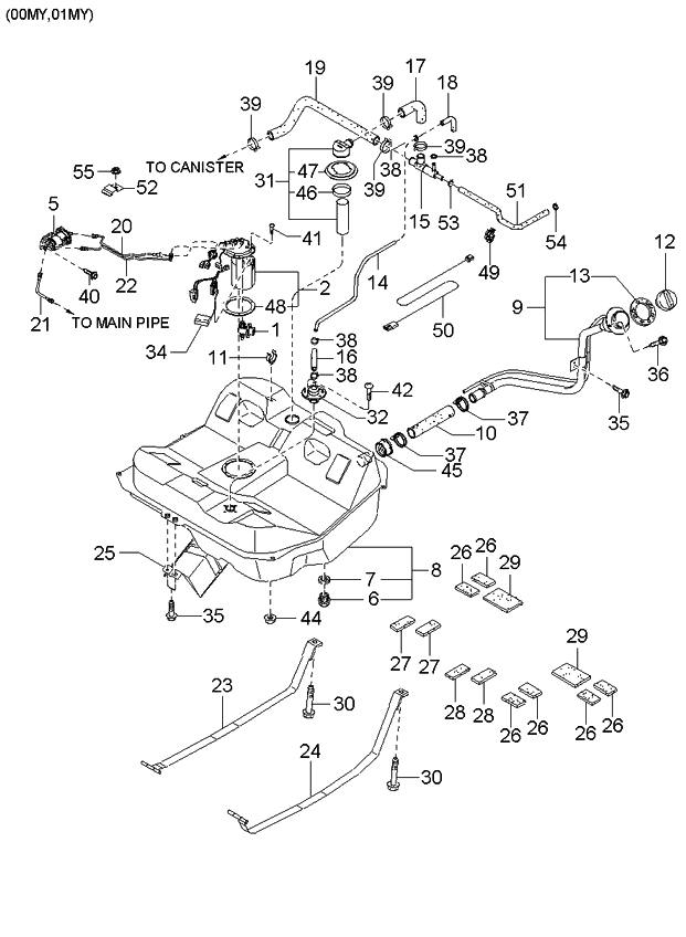 0k2aa42980 genuine kia valve fuel vapor. Black Bedroom Furniture Sets. Home Design Ideas