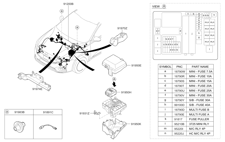 1898009400 genuine kia multi fuse. Black Bedroom Furniture Sets. Home Design Ideas