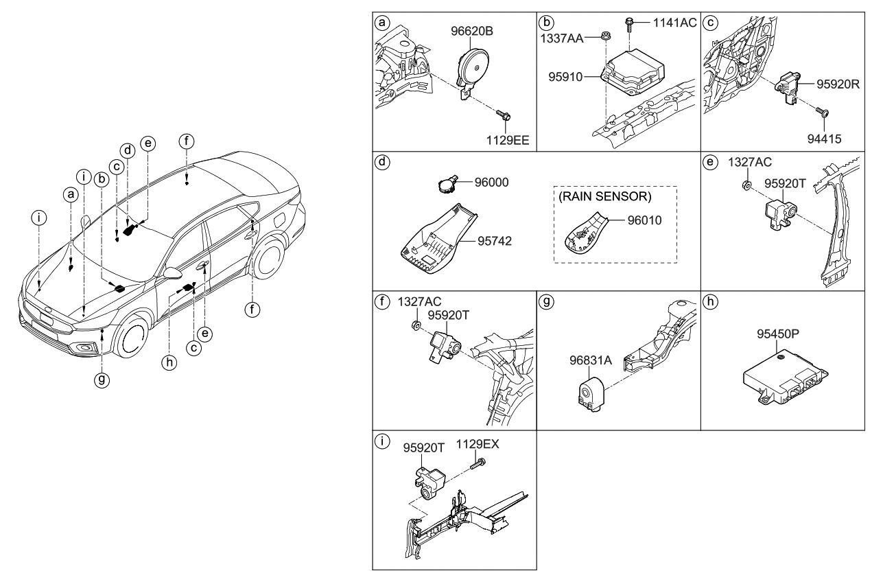 2017 Kia Cadenza Relay Module Parts Now Diagram Thumbnail 2