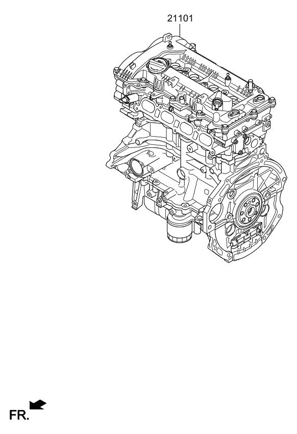 2019 Kia Forte Sub Engine