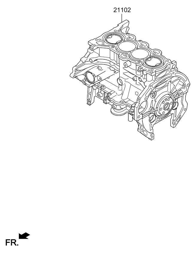 2019 Kia Forte Short Engine Assy