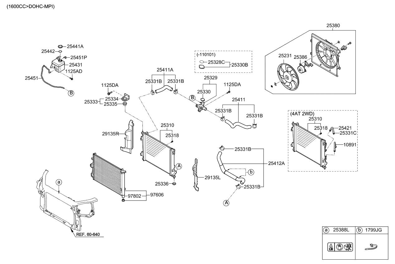 2009 kia soul engine cooling system kia parts now rh kiapartsnow com Kia Spectra Parts Diagram Kia Sorento Parts Diagram