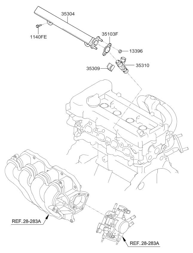 2010 Kia Soul Throttle Body & Injector - Kia Parts Now