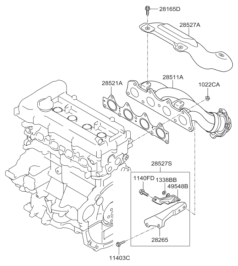 2010 kia soul exhaust manifold - thumbnail 1