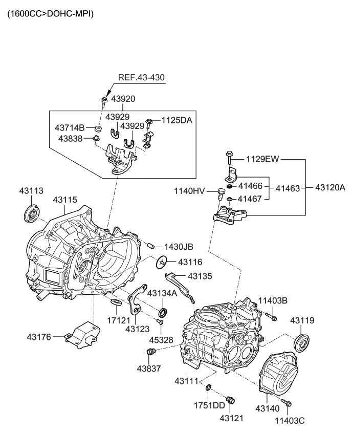 2010 Kia Soul Transaxle Case-Manual - Kia Parts Now