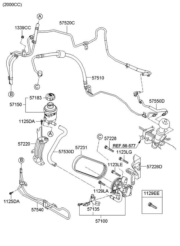2011 kia soul power steering oil pump hose kia parts now rh kiapartsnow com 2015 Kia Soul Engine Diagram 2010 Kia Soul 1.6 Engine Diagram