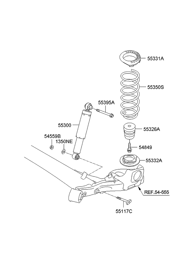 2010 kia soul rear shock absorber spring kia parts now rh kiapartsnow com