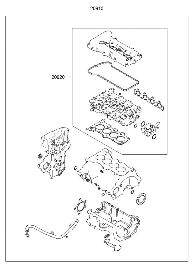 209202bb01 genuine kia gasket kit engine oveaul. Black Bedroom Furniture Sets. Home Design Ideas
