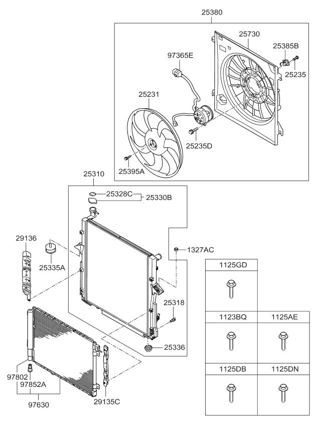 2007 kia sorento engine cooling system kia parts now 2007 Kia Sorento V6 Engine Diagram