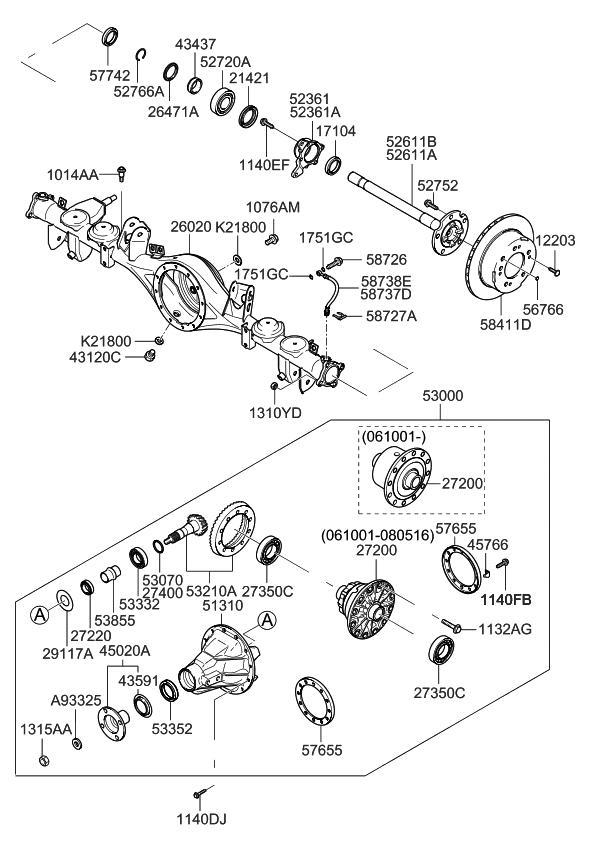 2008 Kia Sorento Rear Axle - Kia Parts Now