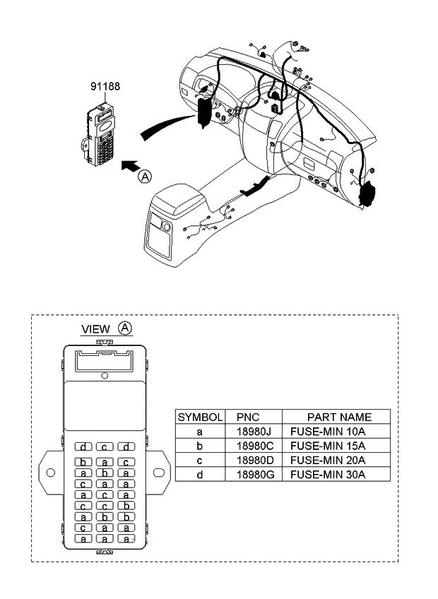 911713e930 genuine kia block assembly main fuse. Black Bedroom Furniture Sets. Home Design Ideas