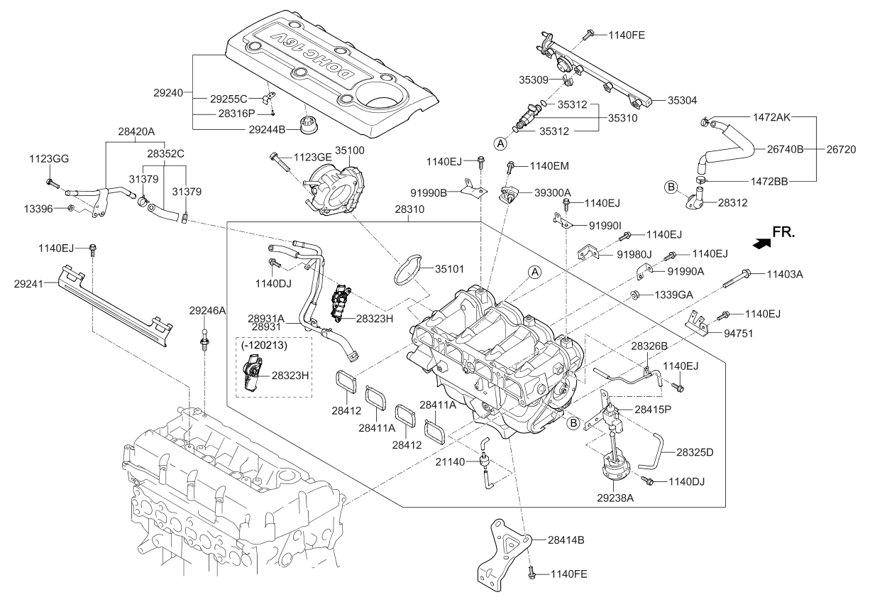 Kium Sportage Engine Diagram
