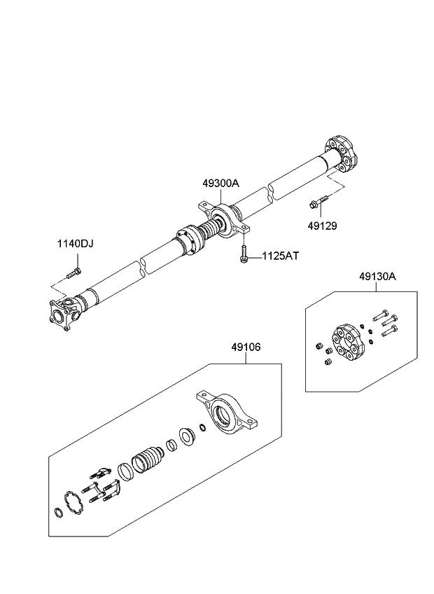 2012 Kia Sportage Propeller Shaft - Kia Parts Now